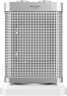 Eurroweb - Calefactor eléctrico de cerámica con termostato regulable, calentador adicional rápido, ligero y manejable