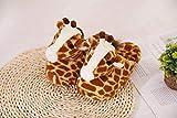 Linda Jirafa Zapatillas Casero Zapatillas Zapatillas De Mujer Suelo Suave Zapatillas Preciosas Zapatos Femeninos Zapatos Calientes Zapatos Cálidos Anti Patines De Goma Suela Ligera Peso Esponjoso Te