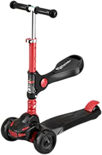 Kids Kick Scooter Anti-rollover Scooter for Kids Toddlers Scooter,Adjustable Height Lean To Steer for Children Boys & Girl...