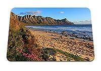 22cmx18cm マウスパッド (overberg南アフリカ海ビーチ砂) パターンカスタムの マウスパッド