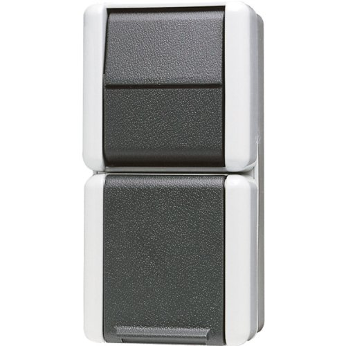 Jung 871W mit Taster 1polig SCHUKO-Steckdose mitTaster, 250 V