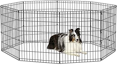 New World Pet Products B552-30 Foldable Exercise Pet Playpen, Black, Medium/24