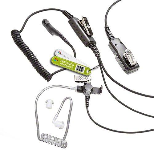 Pentagon - Profi Ohrhörer für Motorola MotoTRBO Funkgerät (Multi Polig) DP3400, DP3401, DP3600, DP3601, DP4400, DP4401, DP4600, DP4601, DP4800, DP4801