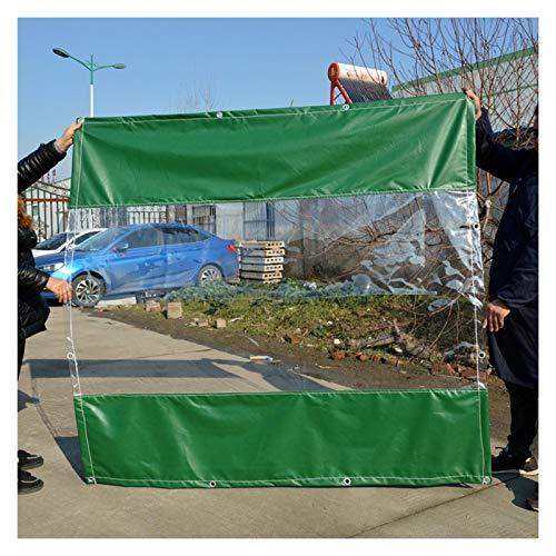 YJFENG Panel Lateral De Tienda con Lona De PVC Transparente De 0,5 Mm, Cortinas De Parabrisas Impermeables De Alta Resistencia, para Terrazas, Exteriores, Jardín, Cenador