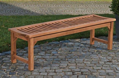 CLP Teakholz Garten-Bank HAVANA V2 ohne Lehne, Teak-Holz massiv (bis zu 8 Größen wählbar) 240 x 45 x 45 cm - 2