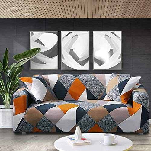 WXQY Funda elástica para sofá con Estampado Floral Fundas para sofá Fundas para sofá para Sala de Estar Sofá de Esquina Toalla Funda para sofá Funda para Muebles A1 2 plazas