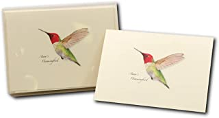 Earth Sky + Water - Anna's Hummingbird Notecard Set - 8 Blank Cards with Envelopes