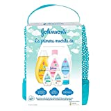 Johnson's Baby Set de Regalo Mi Primera Mochila, champú Clásico 300ml + Aceite Corporal 300ml + crema protector de pañal de 100ml + loción y gel de baño Cotton Touch 50ml