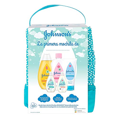 Johnson's Baby Set de Regalo Mi Primera Mochila, champú Clásico 300ml +...