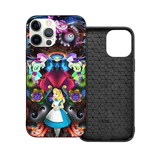 Case for iPhone 12 Alice in Wonderland Shockproof Compatible with iPhone 12, Suitable for iPhone 12 Pro 6.1 /Max 6.7 Cute Strong and Sturdy Case