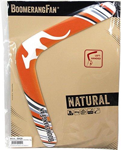 Unbekannt Boomerang Natural 80 gr - Zweiflügler Bumerang für Linkshänder