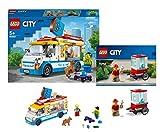 Legoo Lego City 60253 - Carrito de helado y carrito de palomitas (5 años)