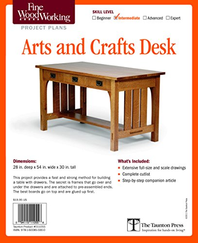 Fine Woodworking's Arts and Crafts Desk Plan