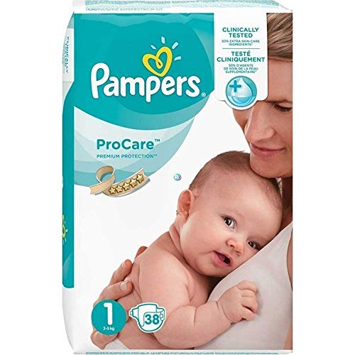 Pampers Procare 38 Couches Taille 1 (2-5 kg)