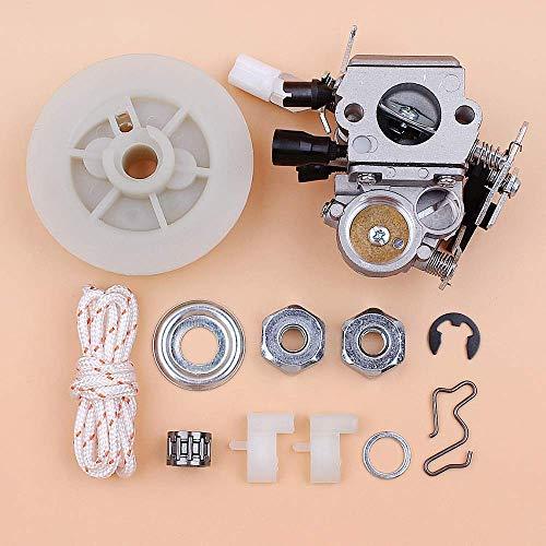 BLTR Carburador polea de Arranque Pawl Dog Bar nueces Kit Compatible con STIHL MS171 MS181 MS 171 181 Gas Motosierra Sierras reemplazo ZAMA C1q S269 De Confianza