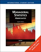 Managerial Statistics, Abbreviated Edition, International Edition (with CD-ROM) by Gerald Keller (2008-11-16)