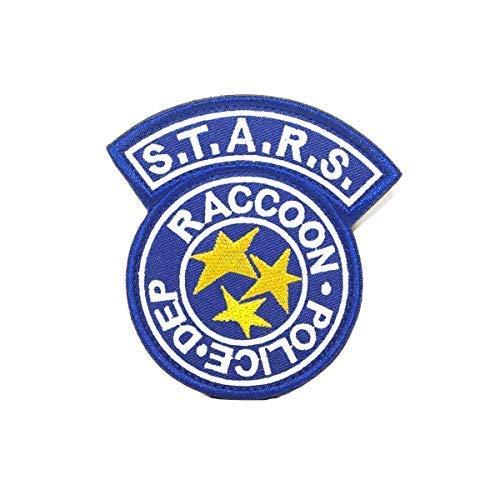 Cobra Tactical Solutions Resident Evil S.T.A.R.S. Racoon Police DEP Film Besticktes Patch mit Klettverschluss für Airsoft Cosplay Paintball für Taktische Kleidung Rucksack (Blau)