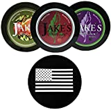 Jake's Mint Chew Cherry, BlackBerry, Apple Spice 3 Can Variety Pack with DC Crafts Nation Skin Can Cover - US Flag