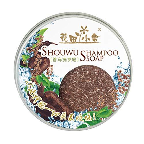 TIREOW Verdunkelnder Shampoo Riegel Neue Polygonum Essenz Verdunkelung der Haare Natürlicher milder Anti-Haarausfall/Weißes Haar Verdunkeln Haarshampoo (Kaffee)