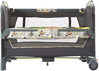 Travel Foldable Cot with Mattress, Dressing Table, 65x110x87 cm, Multi-Color Optional (Size : Style 6)