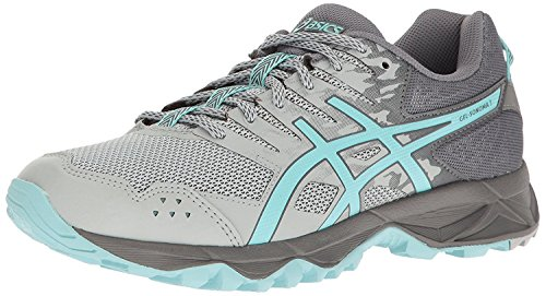 ASICS Women's Gel-Sonoma 3 Trail Runner, Mid Grey/Aqua Splash/Carbon, 8 M US