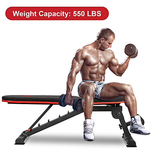 FISUP Weight Bench for Full Body Workout Strength Training Bench Incline Decline Bench for Home Gym