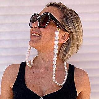 Bohend Mode Femmes Chaîne de lunettes Or Perles Chaîne de masque facial Chaîne de lunettes de soleil perle Accessoires Pou...