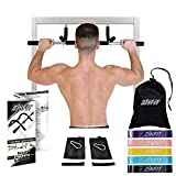 ZinFit Total Body System Pull Up Bar for Doorway with Resistance Bands (All-in-One) Doorframe Pull-Ups, Free Standing Pullup, Chin Ups, Floor Dips, Leg Raises, Abdominal Exercises | Heavy-Duty Steel