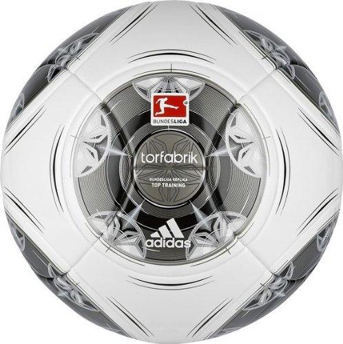 adidas Fußball Torfabrik 2013 DFL 13 Top Training, Wht/Silver/Zest/Mtsi, 4, G73539