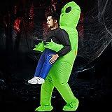JTWEB - Disfraz hinchable de Alien, color verde