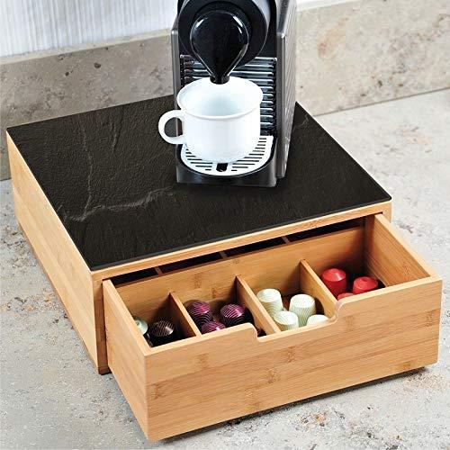 Kesper 58951 Box mit Schublade für Kaffee-Kapseln, Bambus