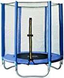 SixBros. SixJump Gartentrampolin 1,40m, Kindertrampolin inkl. Sicherheitsnetz, Outdoor-Trampolin in...
