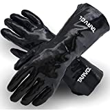 Chemical Resistant PVC Gloves (HEAVY DUTY INDUSTRIAL GRADE) Long Cuff Provides Wrist & For...