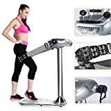 Standing Vibration Platform Home Fitness Machine, Rhythm Full Body Exercise Equipment with 360° Rolling Massage Belt and Air Purifier for Cardio Workout and Weight Loss