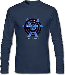 Hefeihe DIY Chvrches Band Logo Men's Long-Sleeve Fashion Casual Cotton T-Shirt