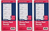 Adams Money and Rent Receipt Book, 2-Part Carbonless, 5-1/4' x 11', Spiral Bound, 200 Sets per Book, 4 Receipts per Page (SC1152) - 3 Pack
