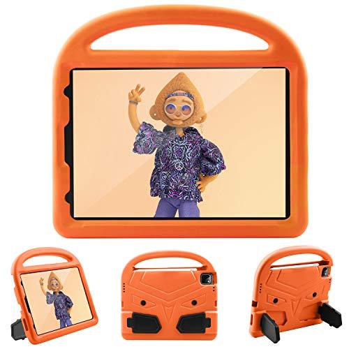 Funda para iPad Pro de 11 pulgadas 2021, ultra ligera, espuma EVA de cuatro esquinas, anticaída, a prueba de golpes, duradera, funda protectora para niños/niñas (naranja)