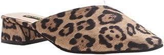 Cosplay-X Slip On Mule Slippers - Women Low Heel Leopard Print Flat Backless Pointed Toe Pump