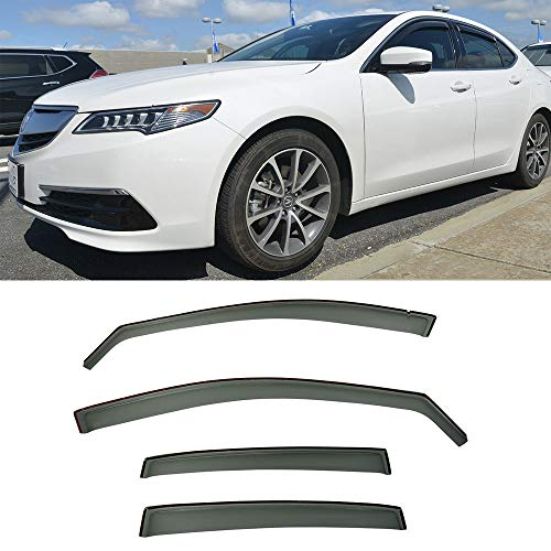 VXMOTOR for 2015-UP Acura TLX (in-Channel) Window Visors Rain Guard Deflector V35
