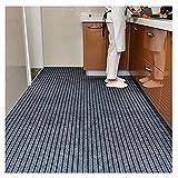 LIUNA Felpudo fino para entrada al aire libre, para interiores y exteriores, con rayas, para cocina, pasillo, puerta, alfombra antideslizante (tamaño: 80 x 120 cm, color: gris)