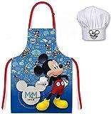 for-collectors-only Mickey Mouse Küchenset Kinder Chefkoch Kochschürze & Kochmütze Disney Micky Maus Grillschürze