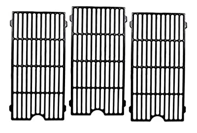 Votenli C6019C (3-Pack) Cast Iron Cooking Grid Grates Replacement for Kitchen Aid 720-0727, 720-0745, 720-0745A, 720-0819 Master Forge GCP-2601 Nexgrill 720-0745, 720-0745A