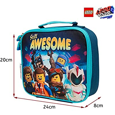LEGO Movie 2 Lunch Bag for Kids Batman Insulated Container for Kids with Handle and Mesh Pocket