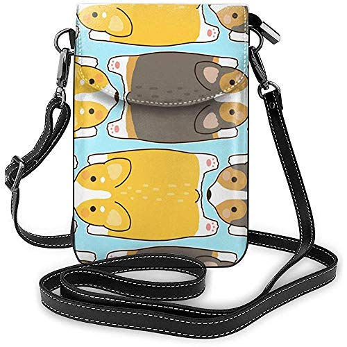 Inner-shop Cute Dogs Corgis Breed Small Crossbody Purse Funda para teléfono celular...