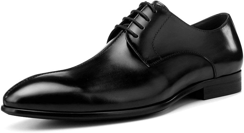 Vårskor av läderskor manliga företagare Formel klädd i spetsig brittisk brittisk brittisk stil Single Formal skor  spel