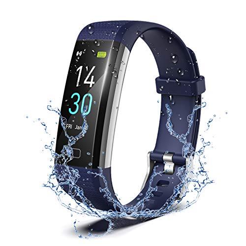 Pulsera Actividad Reloj Inteligente Fitness Tracker IP68 Podómetro Monitor de Sueño Contador de Calorías Pasos Rastreador de Ejercicios Reloj Salud Deportiva para Mujeres Hombres