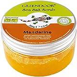 Greendoor esfoliante corpo sale marino mandarino, scrub sale marino senza microplastica, peeling senza conservanti, 280 g con olio di Jojoba biologico e olio di nocciolo di albicocca