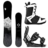 Camp Seven System MTN Snowboard and Flow Alpha MTN Men's Complete Snowboard Package 2019 (163, Size 11 Boots Large Bindings)