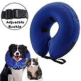 Collarín hinchable para perros y gatos, cono protector para mascotas, para su recuperación tras una cirugía, collarín electrónico, evita que las mascotas se toquen los puntos (S)