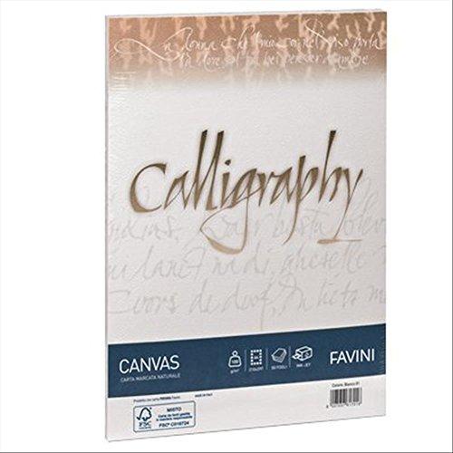 Favini A69Q314 Calligraphy Canvas, A4, Avorio, 50 fogli